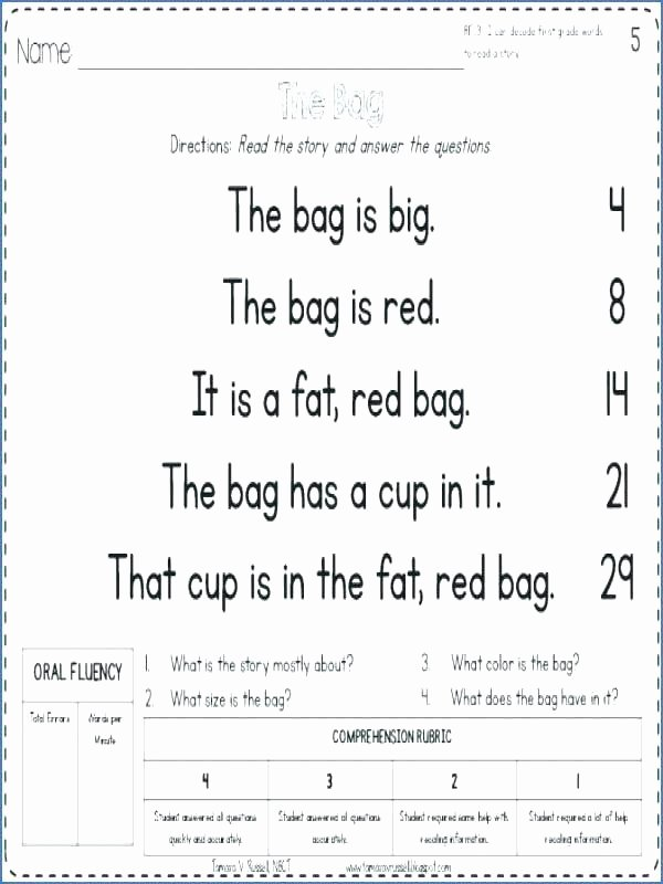 Christmas Fluency Passages Kinder Reading Worksheets – Letseatapp