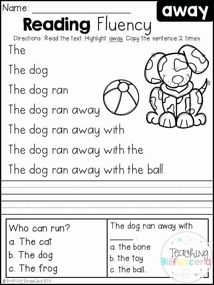 Christmas Fluency Passages Kindergarten 2 English Worksheets – Slaterengineering