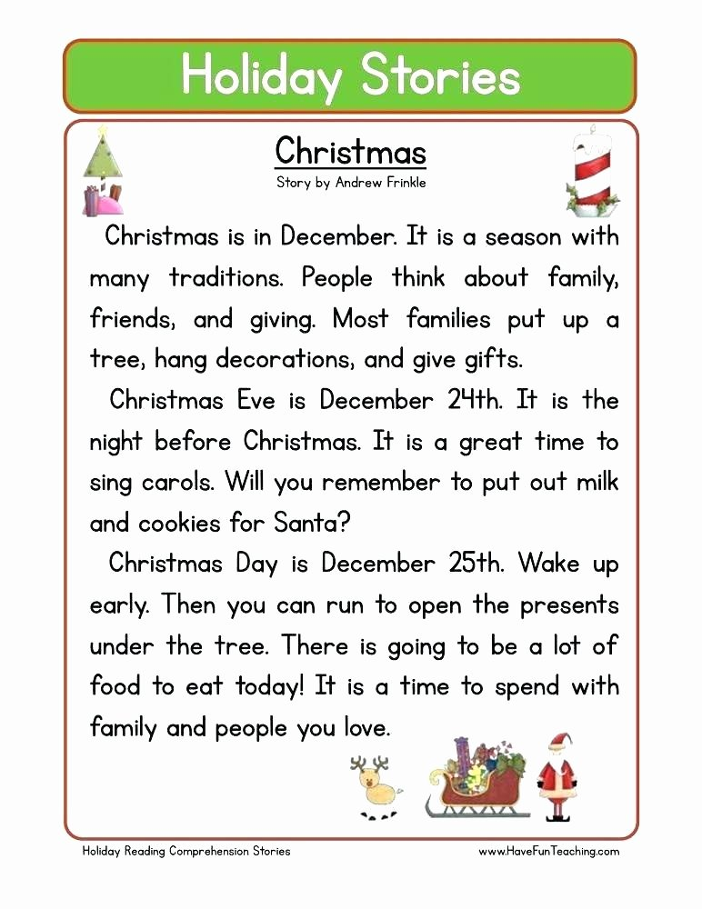 Christmas Fluency Passages Sequencing Worksheets with Reading Prehension Passages by
