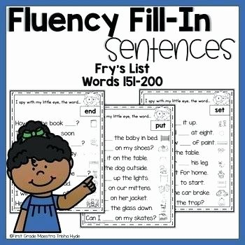 Christmas Fluency Passages Sight Word Fluency Worksheet Template Yellow Sheets