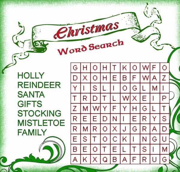 Christmas Hidden Picture Puzzles Printable 31 Free Christmas Word Search Puzzles for Kids