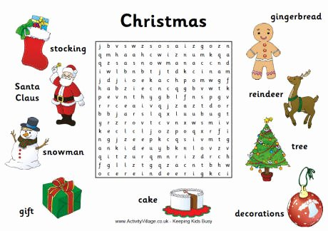Christmas Hidden Picture Puzzles Printable Christmas Word Searches
