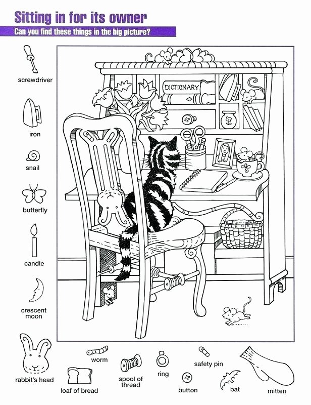 Christmas Hidden Picture Puzzles Printable Hidden Object Coloring Pages Free Printable