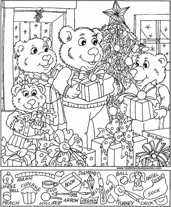 Christmas Hidden Pictures Printable Free Puzzles Hidden