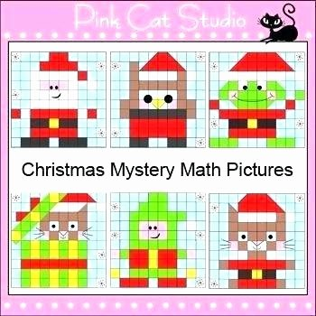 Christmas Hidden Pictures Printable Mystery Picture Grid Coloring Worksheets Hidden Math Grade 2