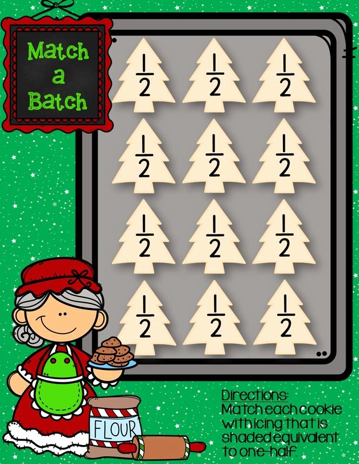 Christmas Math Worksheets 3rd Grade Equivalent Fractions Math Centers Christmas themed