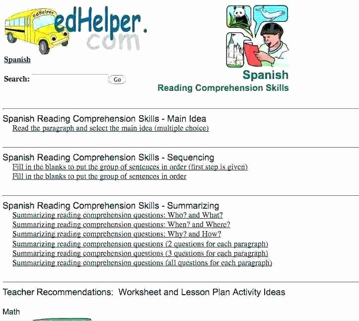 Christmas Reading Comprehension Worksheets Basic Reading Prehension Worksheets