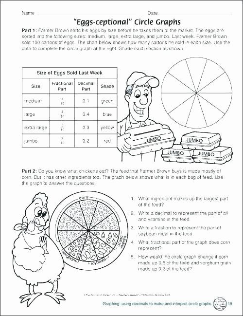 Circle Graphs Worksheets 7th Grade Free Printable Pie Graph Worksheets