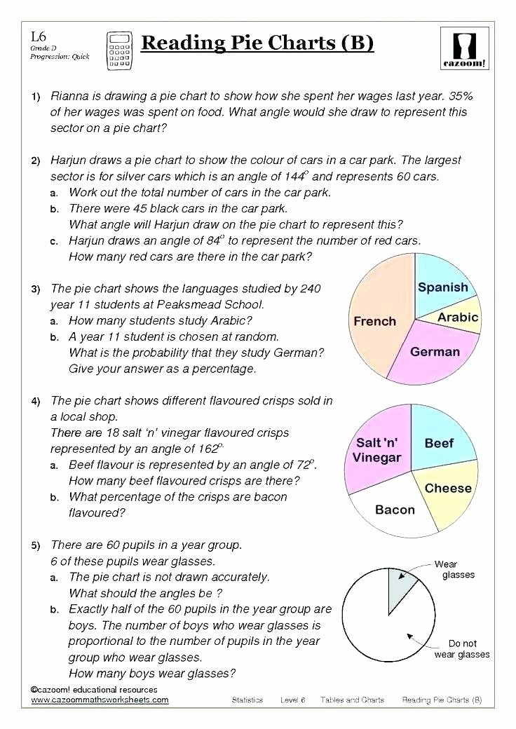Circle Graphs Worksheets 7th Grade Reading Graphs Worksheets Bar Graph for All Download and