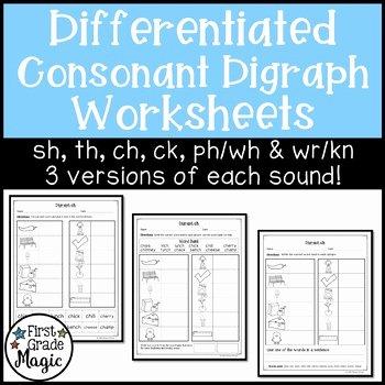 Ck Worksheets for 1st Grade Ending Consonant sounds Worksheets