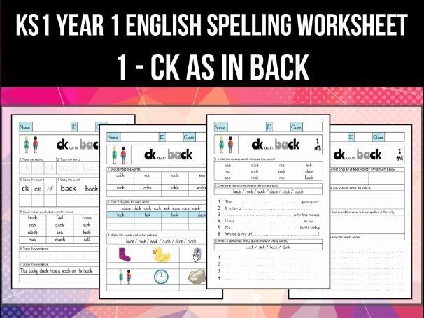 Ck Worksheets for 1st Grade Spelling & Phonics Worksheet K sound Spelled Ck