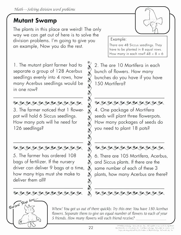 Ck Worksheets for 2nd Grade Awesome Second Grade Story Problems Mon Core Math Word Search