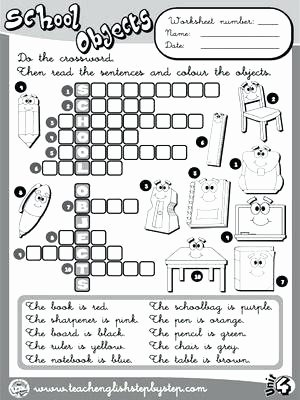 Classroom Objects Worksheets Pdf Free Printable Back to School Worksheets for Grade Primary