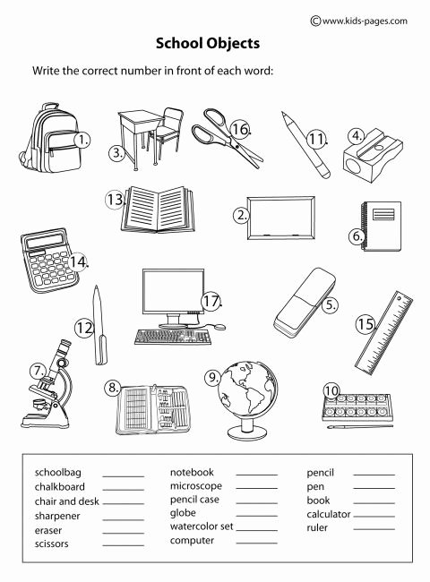 Classroom Objects Worksheets Pdf Vicky Murillo Vickymuraba84 On Pinterest
