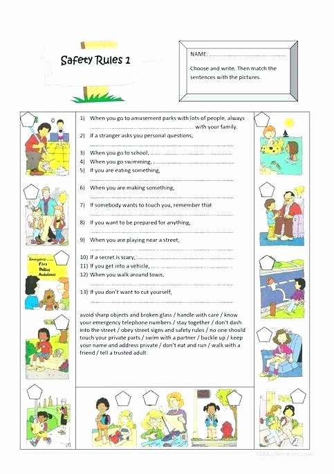 Classroom Rules Worksheet School Safety Rules Worksheets