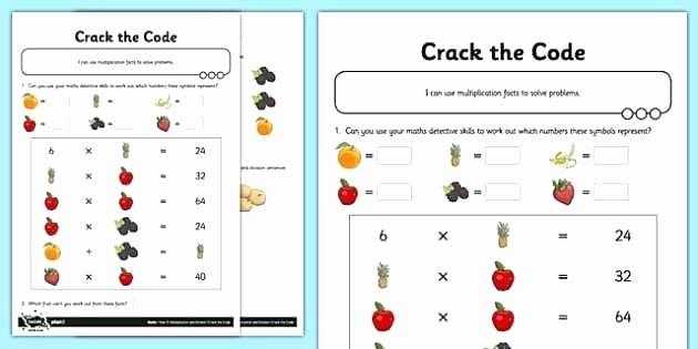 Code Breaker Worksheet Crack the Code Worksheets Printable Differentiated Missing