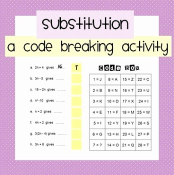 Code Breaker Worksheet Substitution Code Breaker