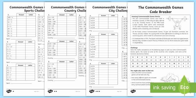 Code Breaking Worksheets Uks2 the Monwealth Games Code Breaker