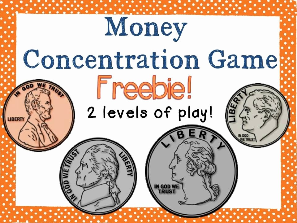 Coin Worksheets First Grade Freebie Includes 2 Money Concentration Games U S Coins