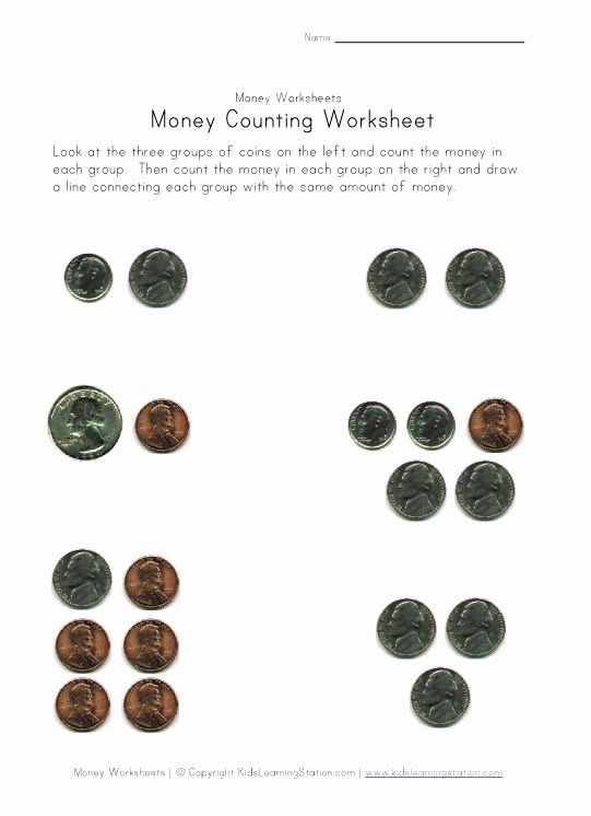 Coin Worksheets First Grade Money Worksheets for the Kids