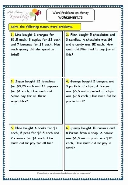 Coin Worksheets for 2nd Grade Spending Money Worksheets