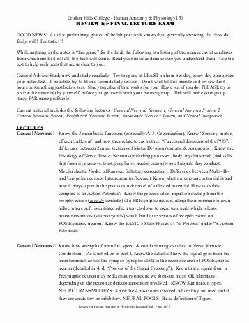 College Anatomy Worksheets Anatomy and Physiology Worksheets for College