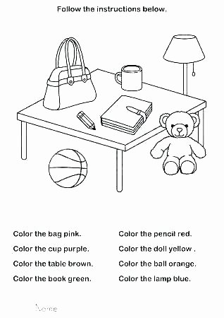 Color Blue Worksheets for Preschool Color Green Worksheets for Kindergarten Activities Kids Worksh