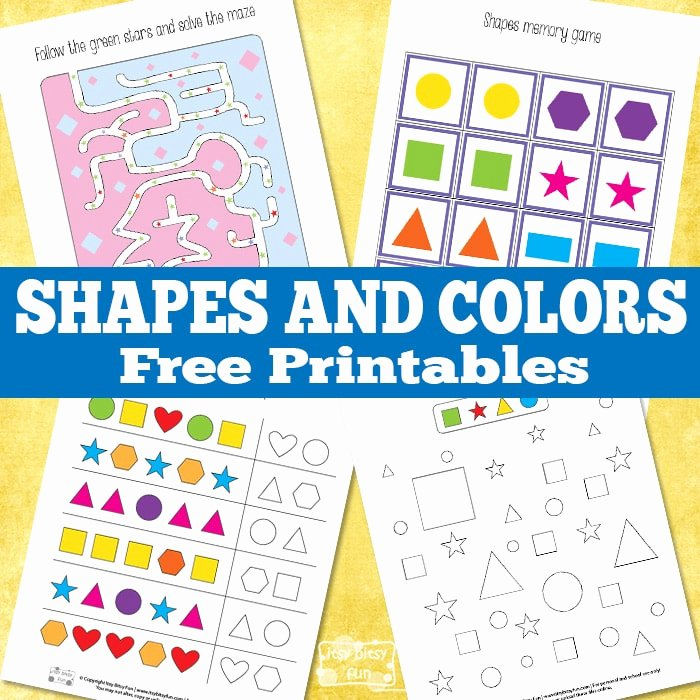Color Blue Worksheets for Preschool Learning Shapes and Colors Printables Itsy Bitsy Fun