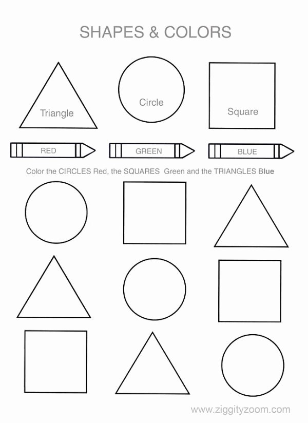 Color Blue Worksheets for Preschool Shapes & Colors Worksheet