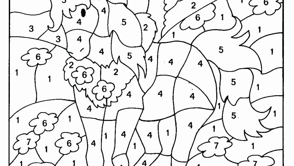Color by Number Worksheets Kindergarten Color by Number Coloring Pages Hard – Lifewiththepeppers