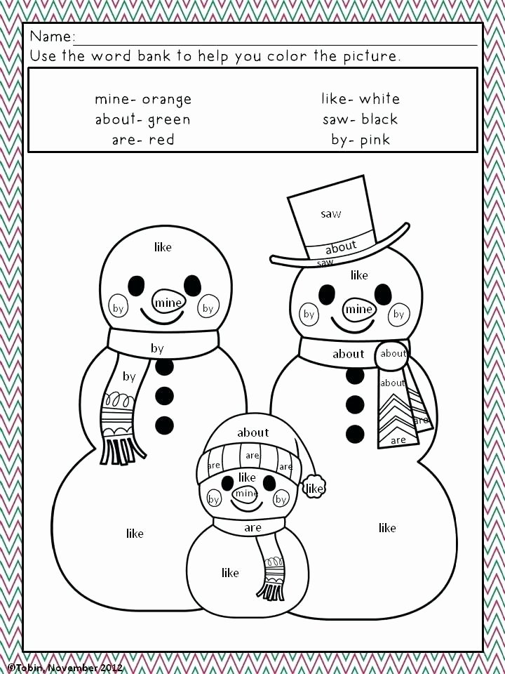Color by Word Worksheets Elegant Coloring Pages Sight Words – Queenandfatchef