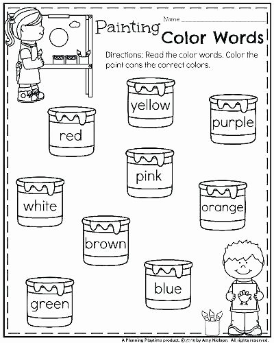 Color by Word Worksheets New Phonics Printable Worksheets Color Word for First Grade
