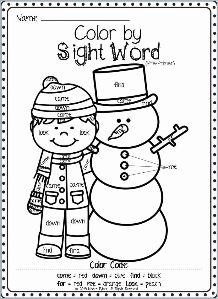 Color Red Worksheets for toddlers 019 Free Printable Sight Word Coloring Pages Awesome Sheets