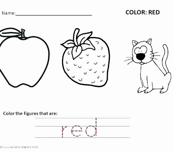 Color Red Worksheets for toddlers Coloring Sheet for Kindergarten – Accelerads