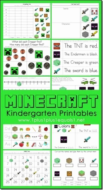 Color Red Worksheets for toddlers Free Minecraft Worksheets for Kids
