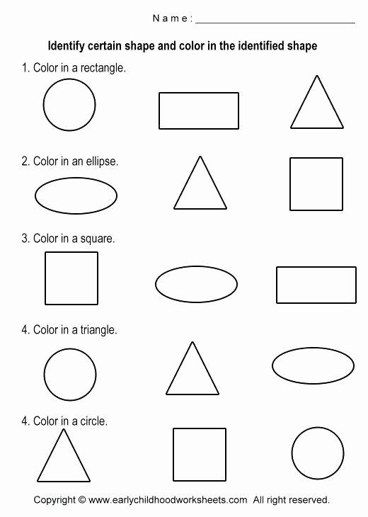 Color Red Worksheets for toddlers Learning Oval Shape Worksheets for Kids Preschool