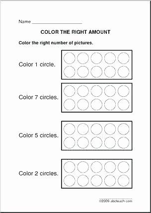 Color Red Worksheets for toddlers Pre K Color Worksheets