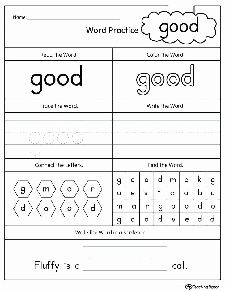 Color Sight Word Worksheets First Grade Sight Word Sentences Words Worksheets Sentence