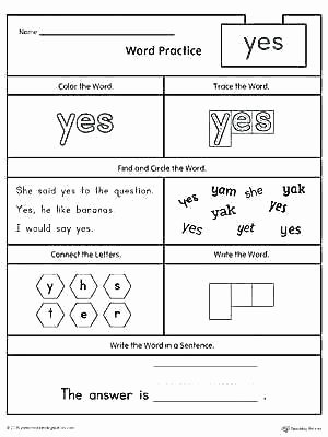 Color Sight Word Worksheets Free Sight Word Worksheets for Kindergarten Practice Color