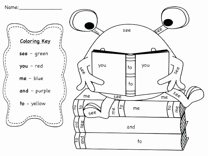 Color Sight Word Worksheets Mon Colors Color Worksheets Sight Words Reading Writing