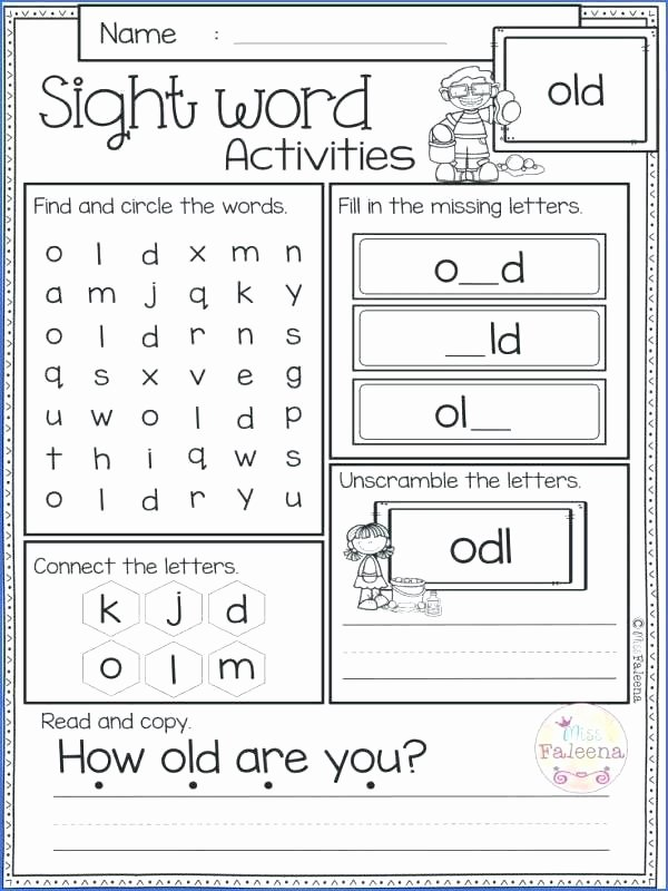 Color Sight Word Worksheets Sight Word Activity Kindergarten Sight Words Coloring Pages