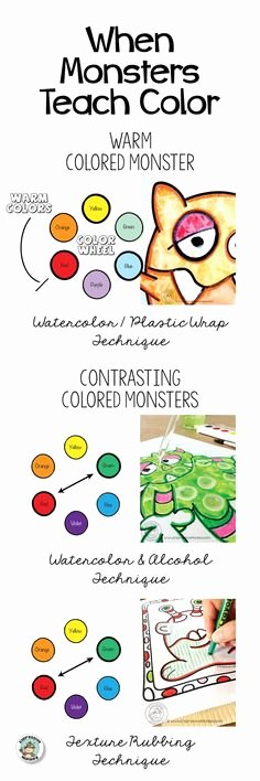 Color Wheel Mandala Lesson Plan 164 Best Color theory for Kids Images In 2019