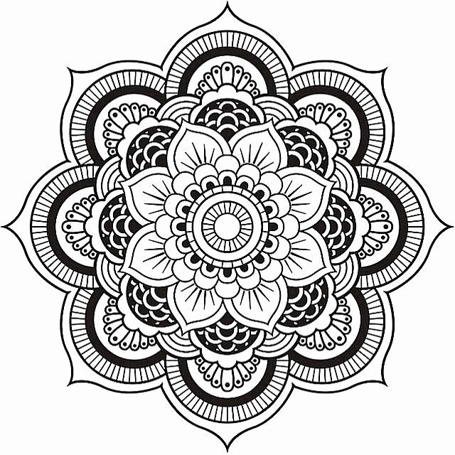 Color Wheel Mandala Lesson Plan Free Printable Mandala Coloring Pages for Adults