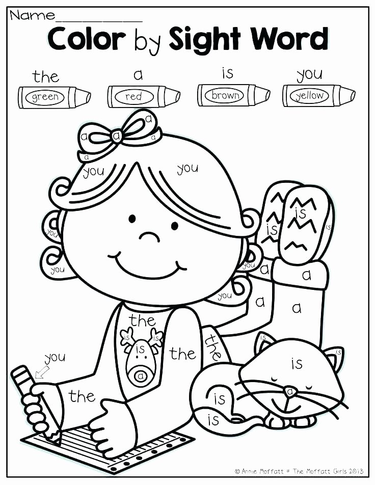 Color Word Worksheets for Kindergarten Coloring Sheet for Kindergarten – Accelerads