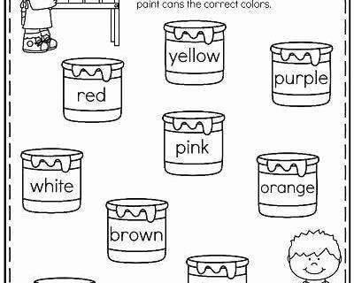 Color Word Worksheets for Kindergarten Kindergarten Reading Books Free Free Kindergarten