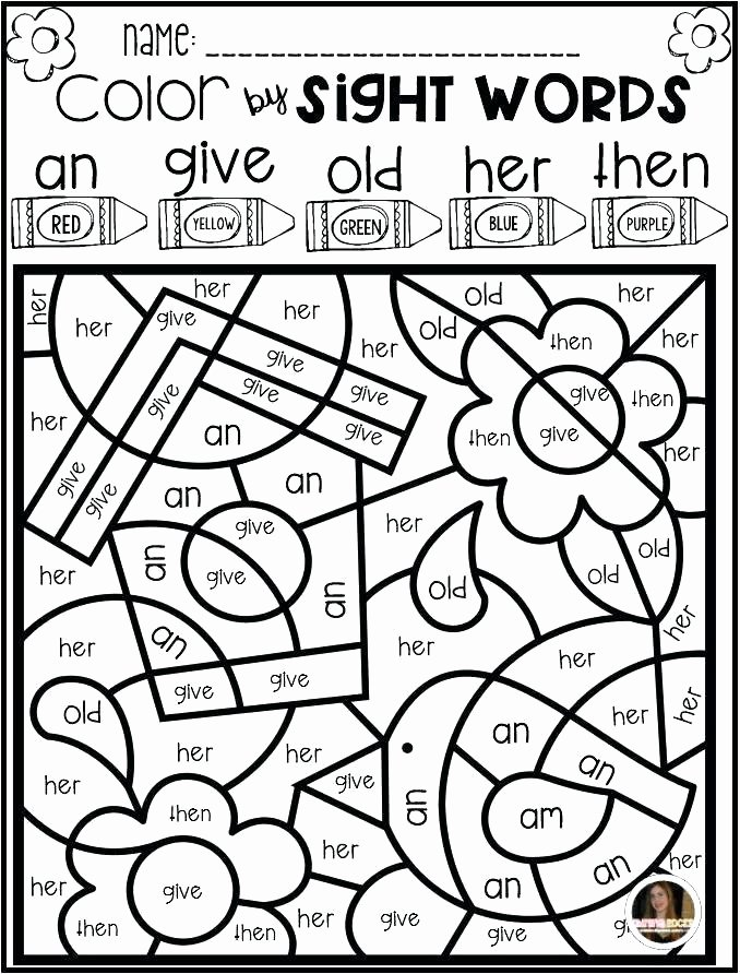 Color Word Worksheets for Kindergarten Sight Word Coloring Pages Kindergarten – Campradio