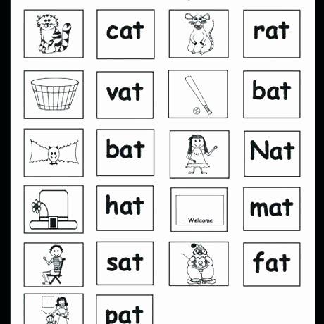 Color Word Worksheets for Kindergarten Word Family Worksheets Kindergarten Free Free Phonics