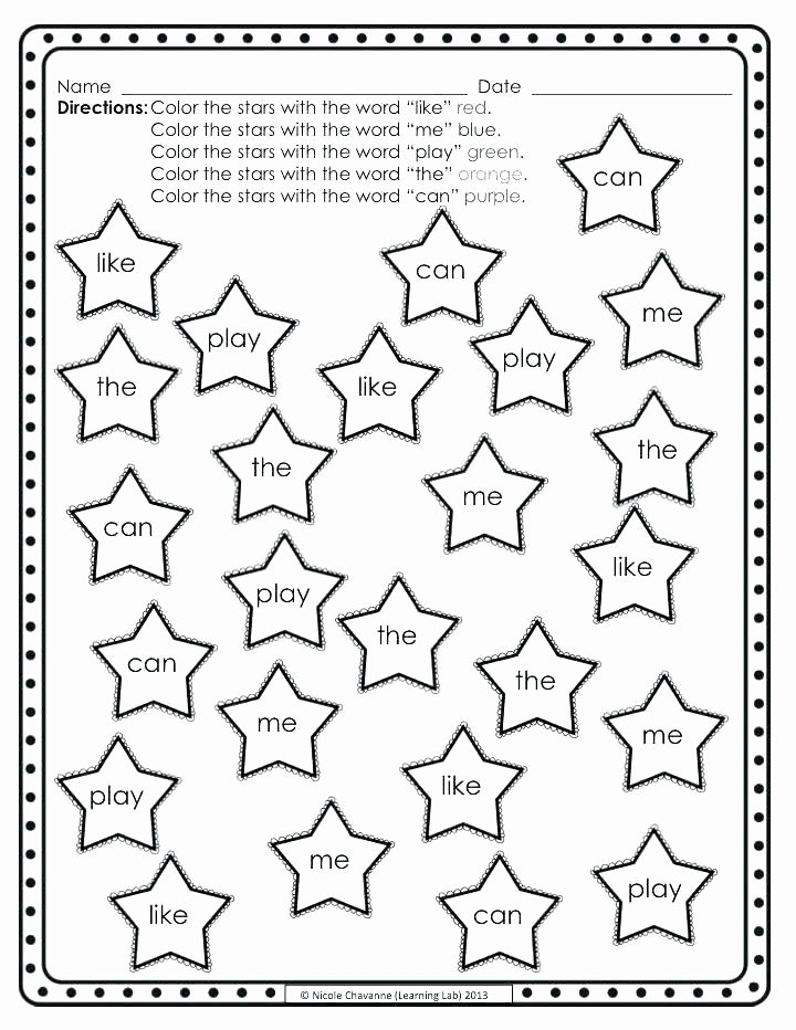 Color Words Coloring Pages Of Sight Word Coloring Page Sabadaphnecottage