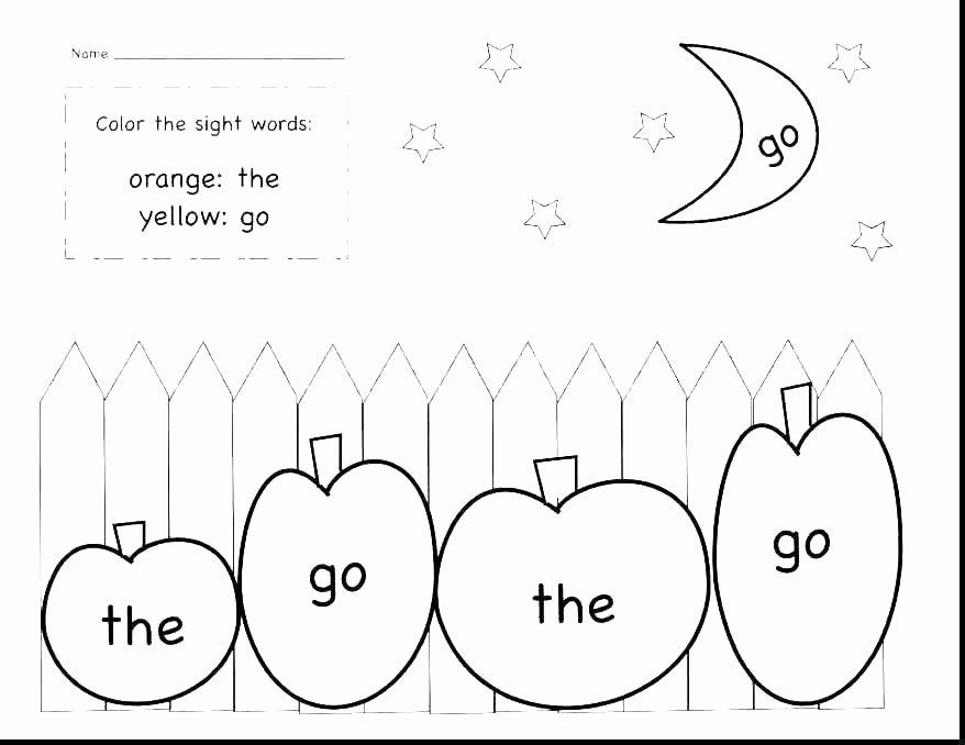 Color Words Coloring Pages Sight Word Coloring Sheets – Austinburgfo