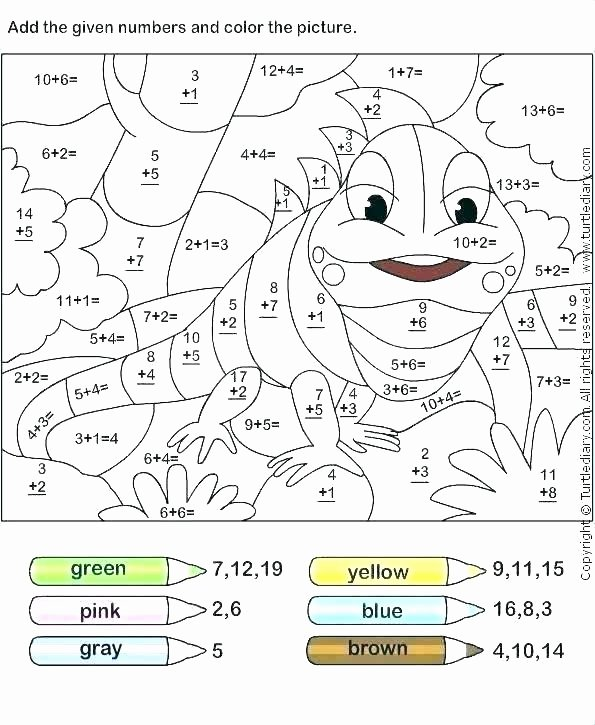 Coloring Addition Worksheet Math Coloring Puzzles – Teleandfo